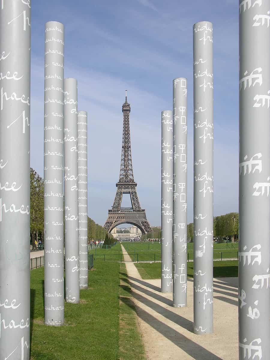 Friede beim Eiffelturm