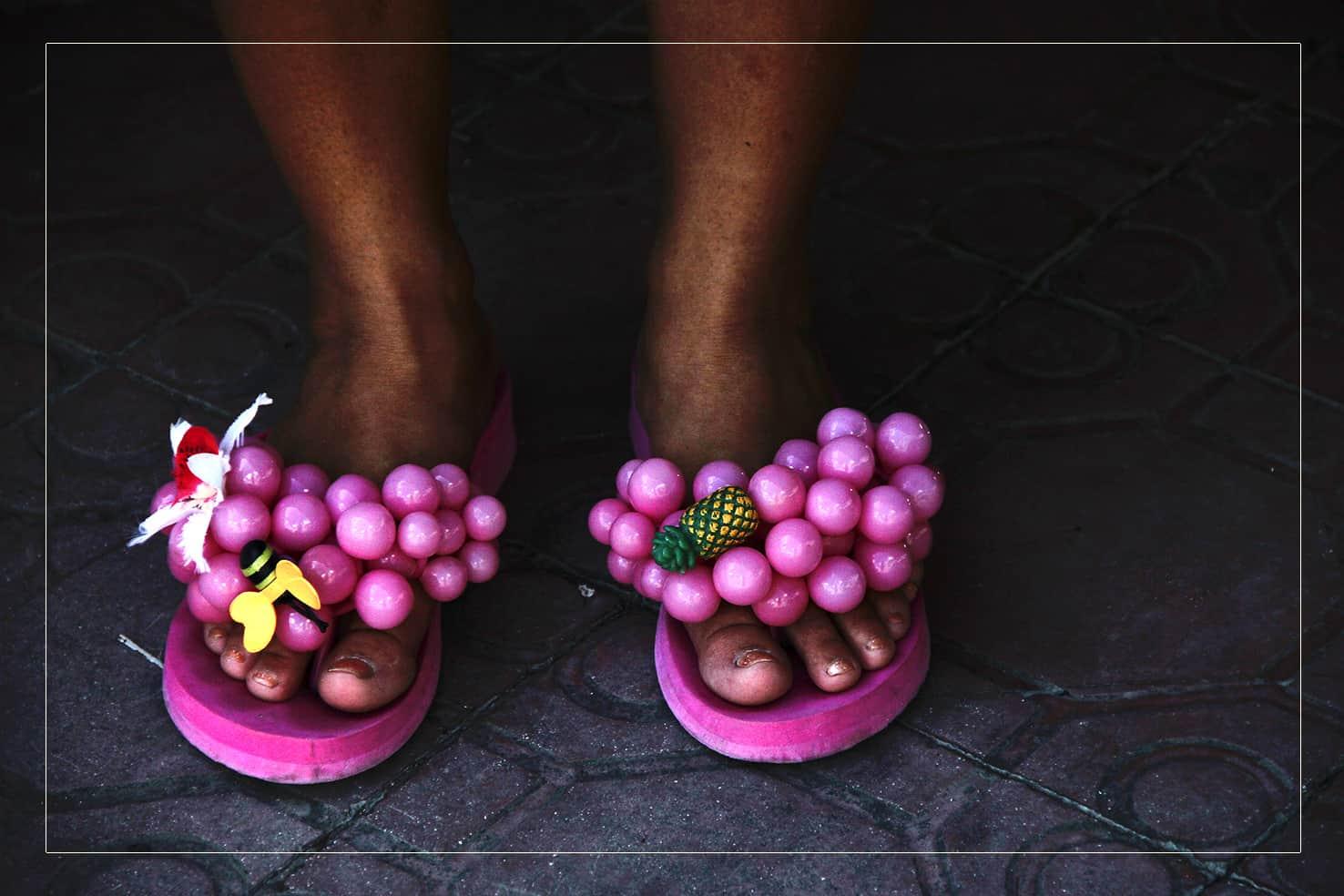 Pink Slippers einer Muchacha